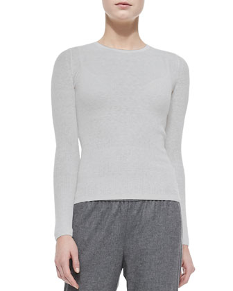 Phoeby Lightweight Ribbed Knit Top