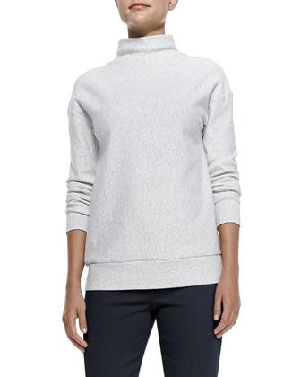 Renika Mock-Neck Knit Sweatshirt