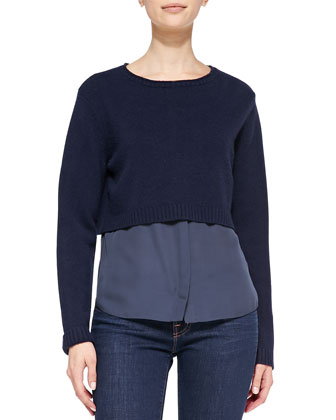 Cashmere Lacy Cropped Sweater