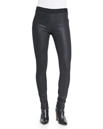 Kidman Coated Denim Leggings