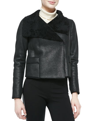 Jacqueline Cropped Shearling Fur Jacket