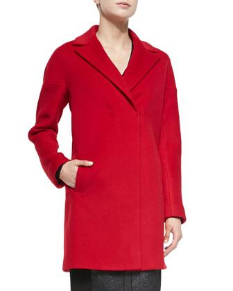 Louisa Snap-Front Coat