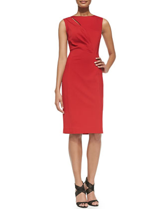 Augustine Sleeveless Jersey Sheath Dress