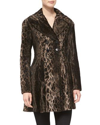 High Voltage Leopard-Print Coat