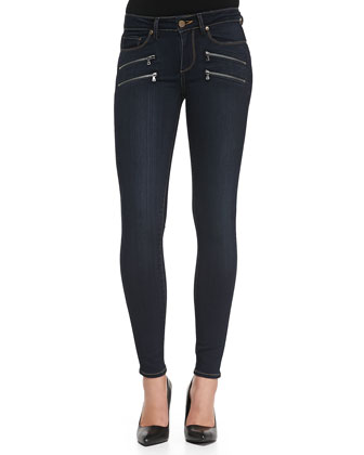 Edgemont Ultra-Skinny Zipper Jeans, Armstrong