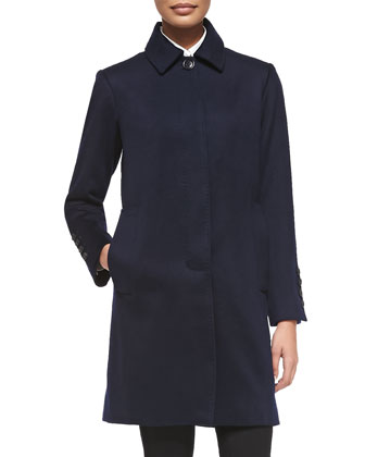 The Columbo Cashmere Coat, Navy