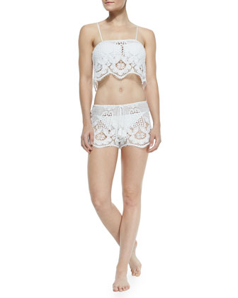 Minnie Miny Lace Drawstring Shorts