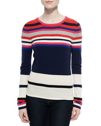 Jolanta Striped Crewneck Pullover