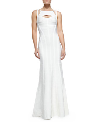 Daga Novelty Essential Gown W/ Peekaboo Cutout