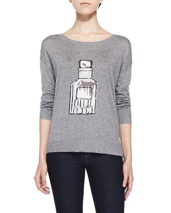 Eloisa Perfume Bottle Intarsia Sweater