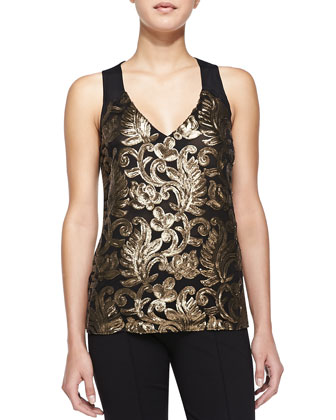 Center Stage Sequined Tank