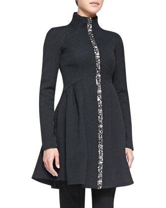 Three-Ring Coat W/ Zip Front