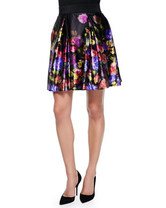 Katie Bouquet Floral-Print Skirt