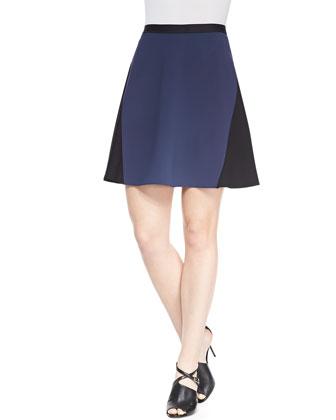 Arya Colorblock A-line Skirt