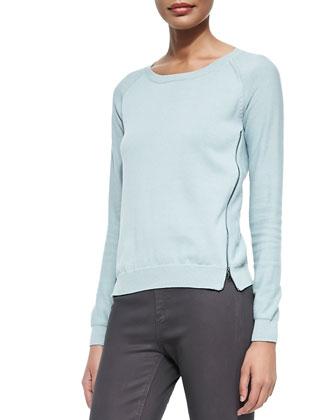 Alise Side-Zip Sweater, Carino