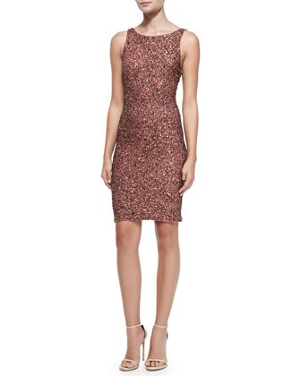 Kimber Beaded Scoop-Back Dress
