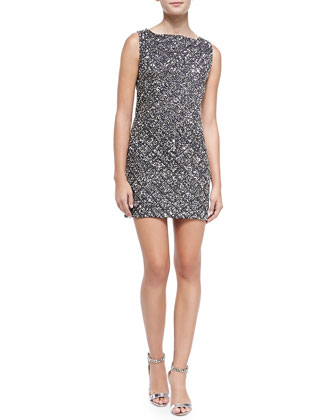 McKee Embellished Fitted Dress