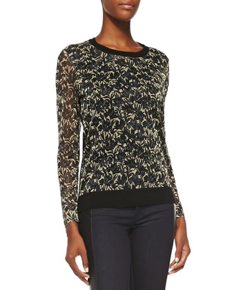 Hounor Jacquard & Wool Sweater