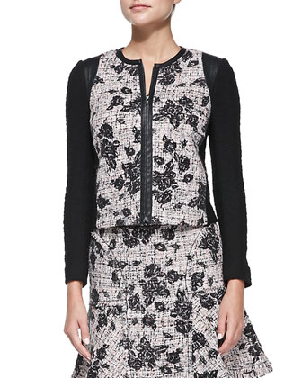 Rebecca Taylor Flocked Tweed Jacket