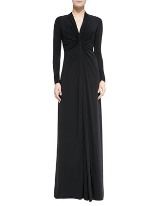 Knot-Center Jersey Gown