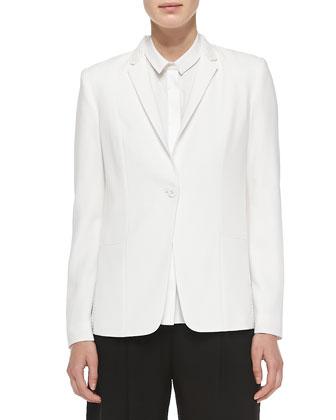 Winnie One-Button Embellished Collar Jacket