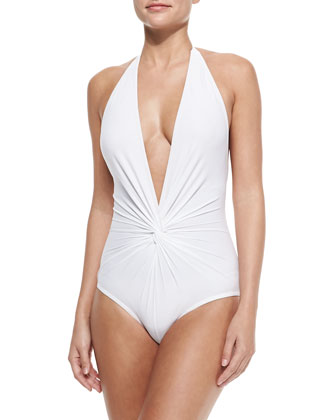 Twist-Front One-Piece Swimsuit