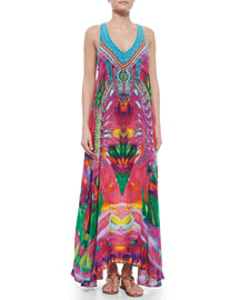 V-Neck Racerback Maxi Dress