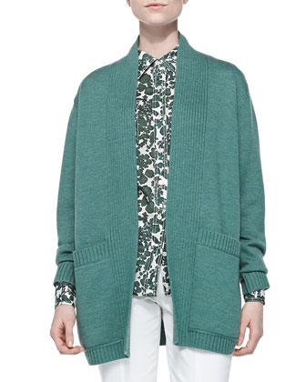 Bruna Wool Open Cardigan