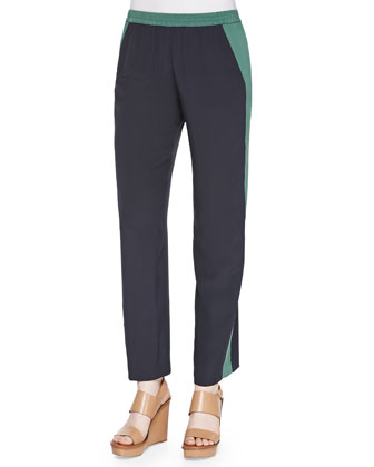Lennie Silk Colorblock Pants