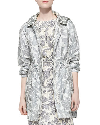 Shirley Floral-Print Hooded Jacket