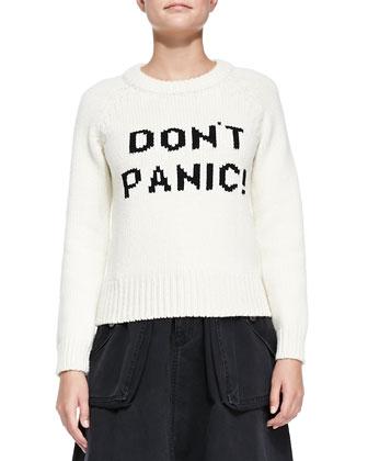 Don't Panic! Knit Crewneck Sweater