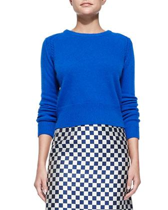 Iris Ribbed-Trim Crewneck Sweater