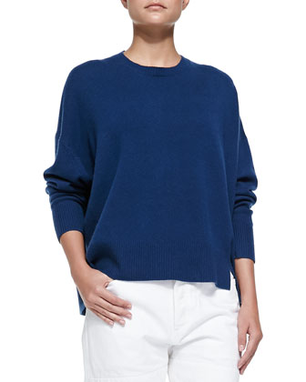 Cashmere Jo Split-Side Sweater