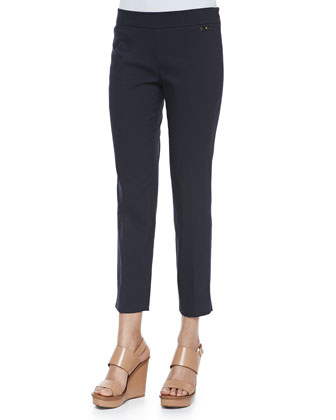 Callie Skinny Ankle Pants, Navy
