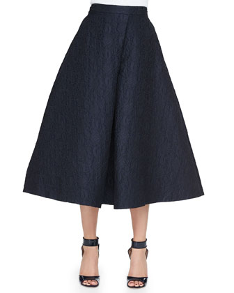Jacquard Long A-Line Skirt