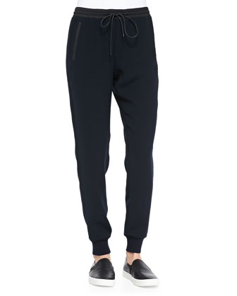 Pull-On Drawstring Jogger Pants