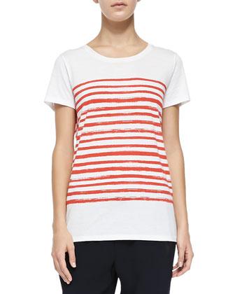 Marker-Stripe Short-Sleeve Tee