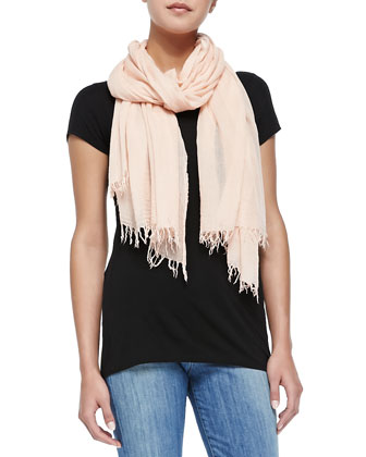 Fringed Scarf, New Buff