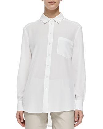 Silk/Linen Combo Blouse
