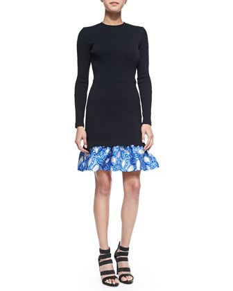 Tate Ruffle-Hem Dress