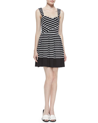 Breton Strappy Striped Dress
