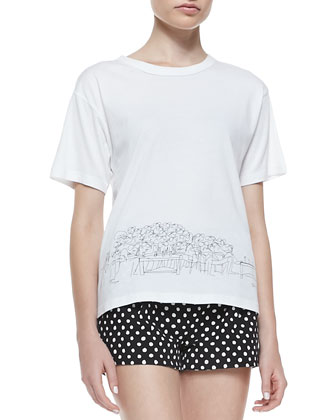 St. Tropez Sketched Cotton Tee