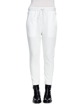 Drift Skinny Cropped Sweatpants, Dove