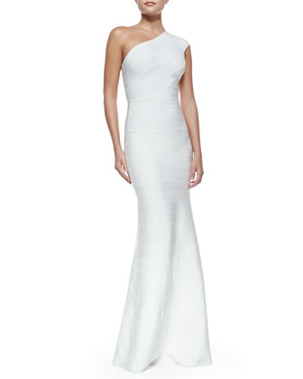 One-Shoulder Bandage Mermaid Gown