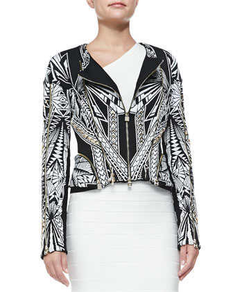 Cropped Multi-Zip Jacket