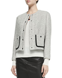 Cannon Tweed Snap-Front Jacket