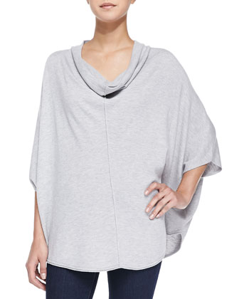 Cowl-Neck Poncho Top W/ Cape Sleeves