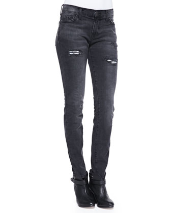 The Ankle Skinny Lovelock Luxe Destructed Jeans