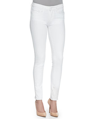 Verdugo Ankle Jeans W/ Raw Cuffs, Optic White