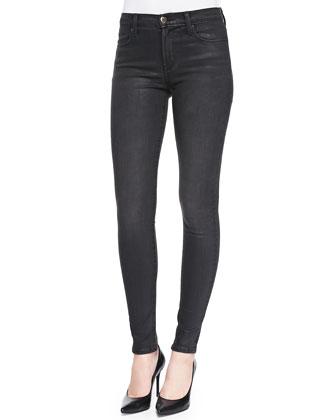 Super Skinny Mid-Rise Jeans, Black Diamond